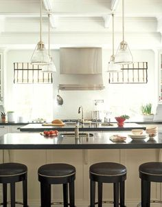 Kitchen:Ultra Modern Kitchen Island And Carts With Seating Countertops Chairs Table Sinks Small Breakfast Bar Bench Ikea Storage Cabinets Un. Home Decor Kitchen, New Kitchen, Kitchen Dining, Kitchen Ideas, Kitchen Sink, Kitchen White, Awesome Kitchen, Kitchen Cabinetry, Kitchen Designs