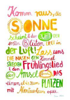 Print *Frühling* von Frau Ottilie in DIN # frühlingsliebe quotes quotes about life quotes about love quotes for teens quotes for work quotes god quotes motivation