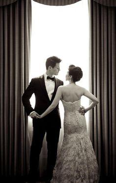 Classy couple, sassy pose | we say yes!