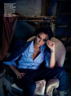 Victoria Beckham for the March issue of Allure, photographed by Alexi Lubomirski and styled by fashion editor Paul Cavaco.
