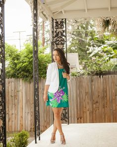 Corporate Florals...@Old Navy dress / @The Limited blazer / @ShoeDazzle heels