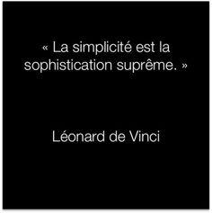 Citation Léonard de Vinci :: la simplicidad es la sophistication suprema.