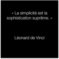 Citation Léonard de Vinci :: la simplicidad es la sophistication suprema.