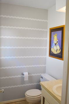Wave Painted Accent Wall with Frog Tape ® Shape Tape ™
