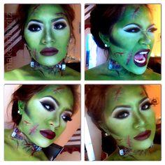 Bride of Frankenstein Halloween Makeup