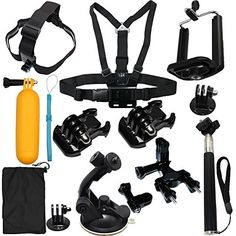 LotFancy 13in1 Camera Accessories Starter Bundle Attachments Kit for GoPro Hero 5 4 3 2 1 SJ4000 SJ5000 HD Action Video Cameras DVR -- You can get additional details at the image link.
