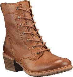 Timberland Women's Sutherlin Bay Lace Casual Boots - Brown Leather Boots, Brown Boots, Rich Girls, Yellow Boots, Dressing, Timberlands Women, Leather Wedge Sandals, Trendy Shoes, Casual Boots