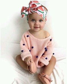 Really Cute Baby Girl Clothes - Then shopping for toddler girl clothing is probably one of your most pursuits in case you So Cute Baby, Cute Kids, Cute Babies, Cute Baby Stuff, Cutest Babies Ever, Cute Little Baby Girl, Small Baby, Fashion Kids, Baby Girl Fashion