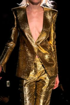 Balmain who doesn't need a gold suit!