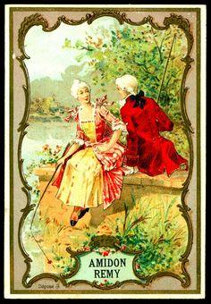 Amidon Remy Washing Powders - Loving Couple c1900