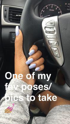 Coffin nail with Essie's Virgin Snow polish