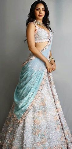 Bridal Lehenga Colour Palettes and What They Represent Indian Fashion Dresses, Indian Gowns Dresses, Dress Indian Style, Indian Designer Outfits, Lehenga Choli Designs, Wedding Lehenga Designs, Indian Wedding Gowns, Indian Bridal Outfits, Indian Bridal Fashion