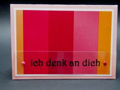 Thinking of you, Ich denk an dich, Romantic Cards, Love, Devotion, Pink, Magenta, Orange