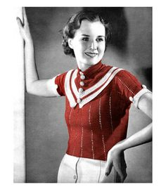Items similar to Vintage Crocheted French Collar Deco Moderne Scarf PDF Crochet Pattern on Etsy Vintage Crochet Patterns, Vintage Knitting, Crochet Designs, 1930s Fashion, Retro Fashion, Vintage Fashion, Vintage Outfits, Vintage Clothing, Women's Clothing