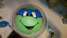TMNT cake. Two 9-inch rounds. Sooo simple!