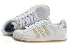 (Adidas Stan Smith Paris) Femme Or Blanc Superstar II RS55I64