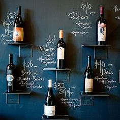 Could space out and do a chalk wall with style names and prices?!