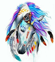 Best Inspiration Art Drawing – My Life Spot Horse Drawings, Animal Drawings, Art Drawings, Drawing Animals, Art Sketches, Native Art, Native American Art, Cross Paintings, Watercolor Paintings