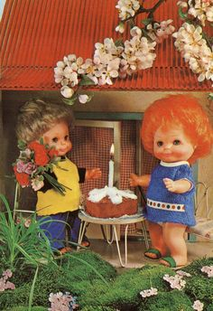 Vintage Doll Postcard  70's 1 by CuteEyeCatchers on Etsy,