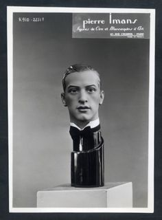 Pierre Imans 1930 Sculptor in Wax Figure de Cire Photo Man Archive documents French Clippings | Hprints.com