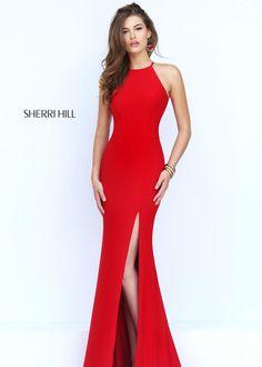 Sherri Hill 32340 Flirty Cut Out Back Evening Gown