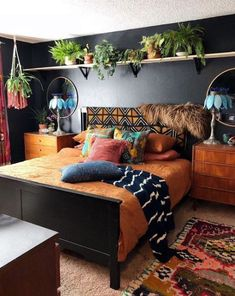 25 Lovely Bohemian Decoration For Bedroom - List of the best home decor Dream Bedroom, Home Bedroom, Bedroom Decor, Bedroom Ideas, Bedroom Crafts, Bohemian Decoration, Home Design, Interior Design, My New Room