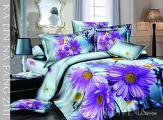 US$118.99 Happiness and Warm Flowers Print 4 Piece Cotton Bedding Sets. #Sets #Piece #Cotton #4