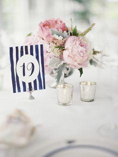 navy and pink nautical wedding