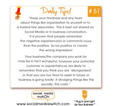 #Social Media and #Technology Tips, please click the picture for more facts on the pay offs of being positive.