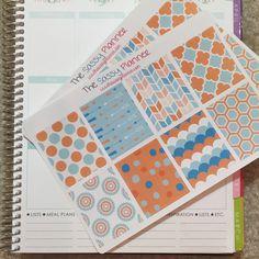 NEW! January Monthly Full Box Stickers for Erin Condren Life Planner/Plum Paper Planner - Set of 16