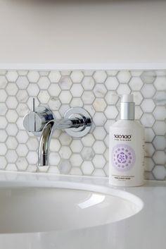 Von Sturmer - Dorn Bracht taps in beautiful natural marble tiles Marble Tiles, Taps, Sink, Natural, Beautiful, Design, Home Decor, Homemade Home Decor, Vessel Sink