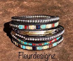 Southwestern Boho Sublime Leather-based Wrap Bracelet Arrow Bracelet   Etsy