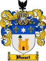 Viccari Coat of Arms / Family Crest Downloadable JPG. Download now for only $4.75 in a high quality 300 dpi file.
