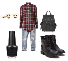 """""""Untitled #2"""" by lindseystyles on Polyvore featuring Abercrombie & Fitch, Yves Saint Laurent, OPI and Topshop"""