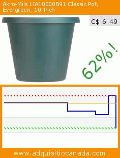 Akro-Mils LIA10000B91 Classic Pot, Evergreen, 10-Inch (Lawn & Patio). Drop 62%! Current price C$ 6.49, the previous price was C$ 17.17. https://www.adquisitiocanada.com/akro-mils/lia10000b91-classic-pot