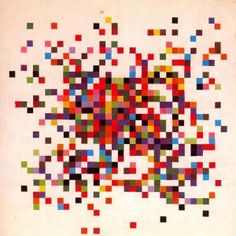 """Ellsworth Kelly's """"Spectrum Colors Arranged by Chance"""" - Since the early 1950s many artists attempted to undermine concerns of style and personal expression and started the exploration of unorthodox artistic methodologies like artists John Cage, Ellsworth Kelly, François Morellet."""