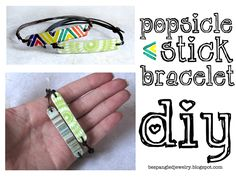 DIY upcycled popsicle stick bracelet tutorial
