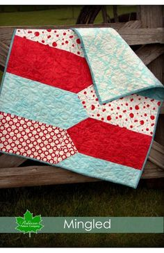 Mingled is a beautiful new baby quilt pattern, that is quick and easy to make, and stunning when it is done. The mingled pattern began as an idea, of two side mingling together. It represents how the