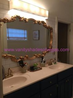 Diy fabric shade for vanity lights in master bathroom - Discount bathroom vanities las vegas ...