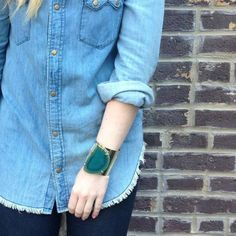 Agate Cuff Green byAli's Collection