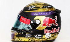 nascar helmets for sale | This helmet was worn by Sebastian Vettel during the Formula One German ...