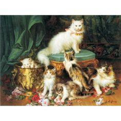 60423 - Puzzle Tiempo de Juego de gatos, Jules Leroy, 1000 piezas, Gold Puzzle.  http://sinpuzzle.com/puzzle-1000-piezas/1266-60423-puzzle-tiempo-de-juego-de-gatos-jules-leroy-1000-piezas-gold-puzzle.html