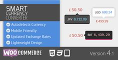 WooCommerce Extensions - Smart Currency Converter automatically detects the currency of your WooCommerce website visitor, converts all the prices of the website to that currency, and shows them in a beautiful and lightweight way.
