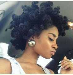 Chunky twist out afro, the best!