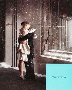 #tiffany #couple #outdoors #snow #window #engagement #lulusholiday