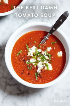 Tomato soup does not have to be bland. It's time to stop settling -- especially for the stuff in a can. This recipe has one key step that ensures a pot of rich, flavourful soup. Hint: Roasting is involved! And as always, eating a bowl with a side of grilled cheese is encouraged!