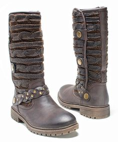 Look what I found on #zulily! Dark Brown Gayle Boot - Women by MUK LUKS #zulilyfinds
