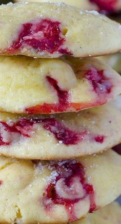 Cream Cheese Strawberry Cookies