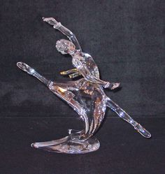 "2004 SWAROVSKI CRYSTAL MAGIC OF DANCE ""ANNA"" w/ CERTIFICATE & PLAQUE NIB LE SCS"