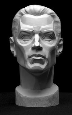 Male Planes Head Artist's Reference Cast by Philippe Faraut